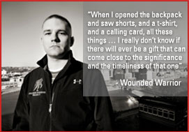 Wounded Warrior and quote