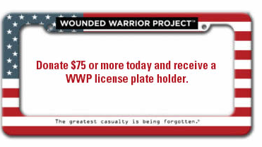 Wounded Warrior Project License Plate