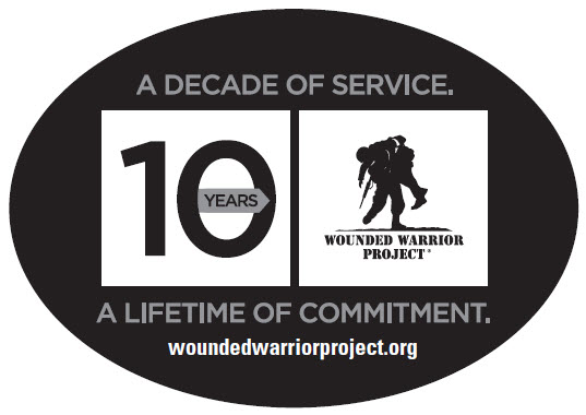 Wounded Warrior Project Oval 10-Year Car Magnet