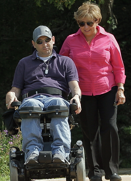 Photo of a Wounded Warrior and Caregiver
